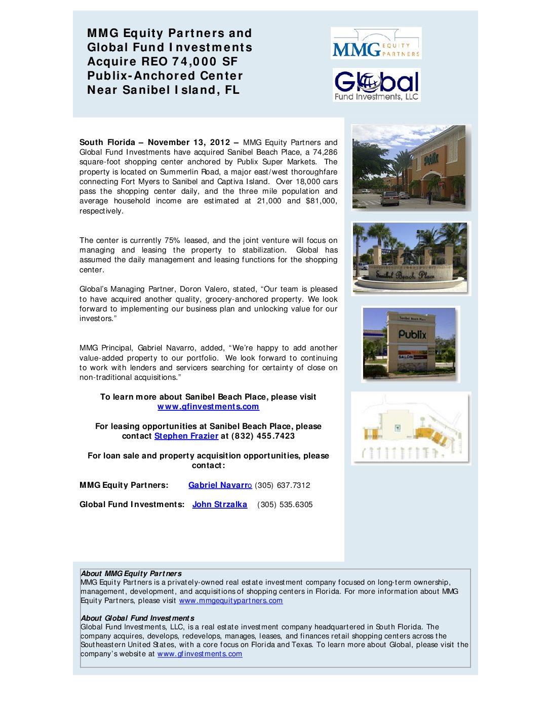 Sanibel-Press-Release
